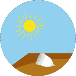 sun dry your menstrual cup