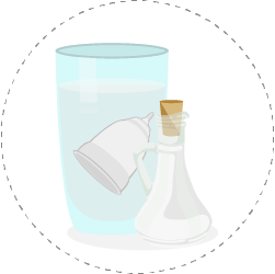 soak your menstrual cup in white vinegar