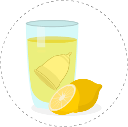soak your menstrual cup in lemon juice